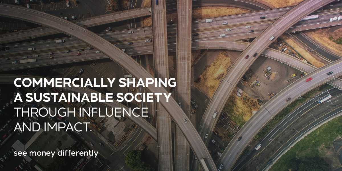 Commercially shaping a sustainable society through influence and impact