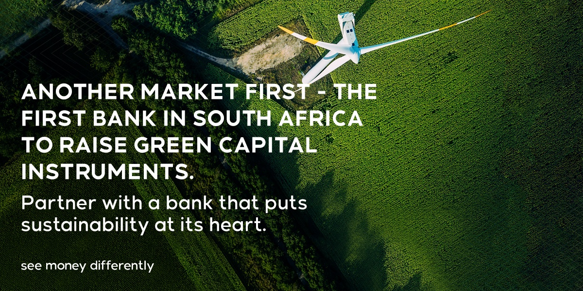 Another green achievement for Nedbank with the launch of SA's first 'green' tier 2 capital instrument